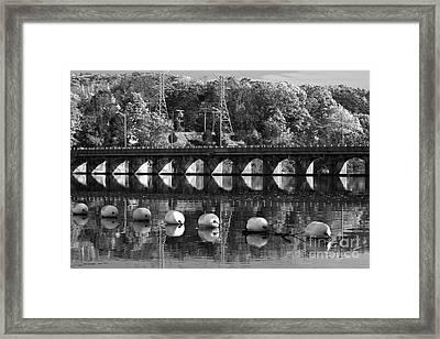 Bridge Reflection Framed Print by Karol Livote