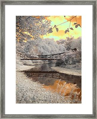 Bridge Reflections Framed Print by Jane Linders