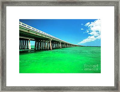 Bridge To Heavenly Clouds, Florida Keys Framed Print by Felix Lai