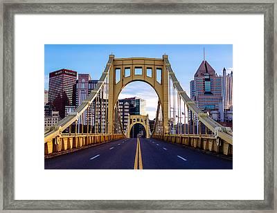 Bridge To Pittsburgh Framed Print by Paul Scolieri