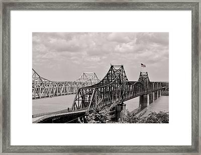 Bridges At Vicksburg Mississippi Framed Print by Don Spenner