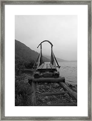 Bridges Crossed Framed Print by Becca Brann