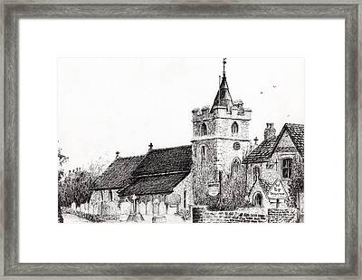 Brighstone Church Framed Print by Vincent Alexander Booth