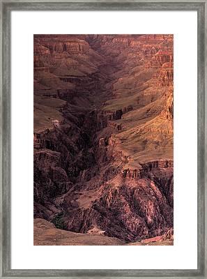 Bright Angel Canyon Grand Canyon National Park Framed Print by Steve Gadomski