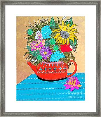 Bright Bouquet Framed Print by Amy Sorrell