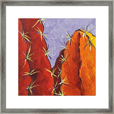 Bright Cactus Framed Print by Sandy Tracey