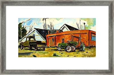 Bright Green And Drab Olive Framed Print by Charlie Spear