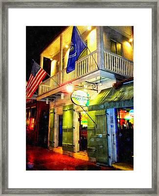 Bright Lights In The French Quarter Framed Print by Glenn McCarthy Art and Photography