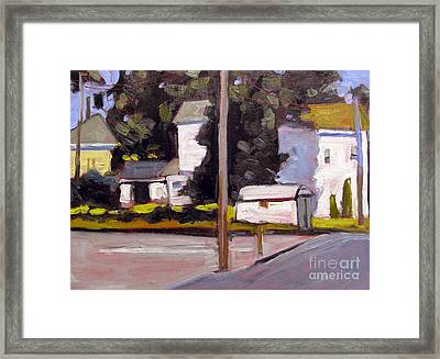 Bright Morning Apartments Framed Print by Charlie Spear