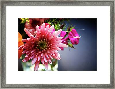 Bright Pink Floral 1- Art By Linda Woods Framed Print by Linda Woods