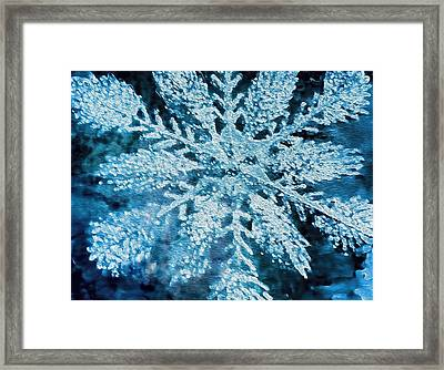 Bright Snowflake Framed Print by Kathy Bassett