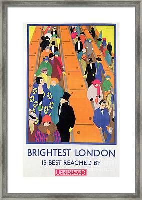 Brightest London Is Best Reached By Underground Framed Print by Horace Taylor