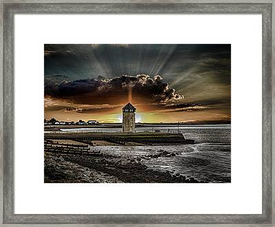 Brightlingsea Beach Framed Print by Martin Newman