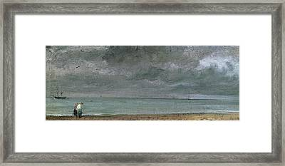 Brighton Beach Framed Print by John Constable