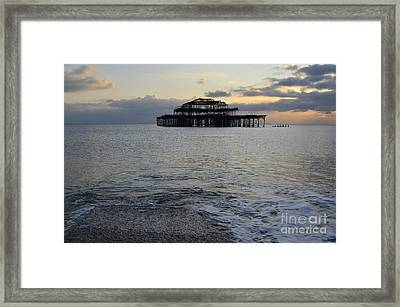 Brighton West Pier Framed Print by Stephen Smith