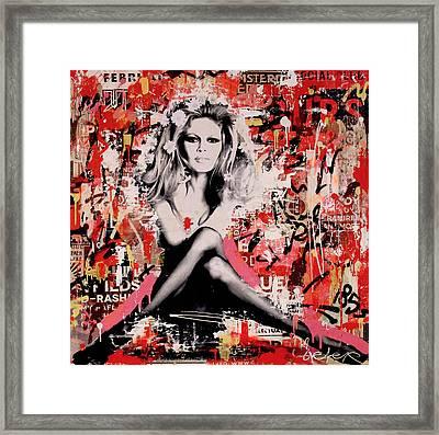 Brigitte Bardot Is In St.tropez Again Framed Print by Michiel Folkers