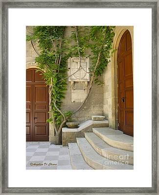 Brindisi- Library Door Framed Print by Italian Art