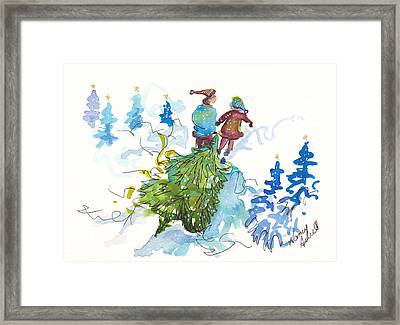 Bringing Christmas Home Again Framed Print by Michele Hollister - for Nancy Asbell