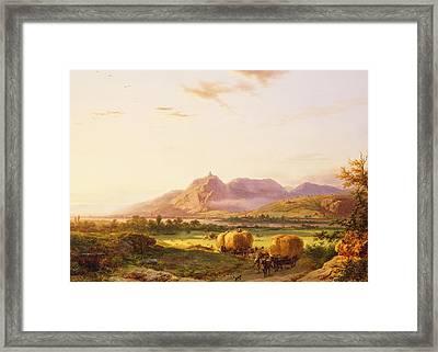 Bringing In The Harvest Framed Print by Pieter Lodewijk Francisco Kluyver