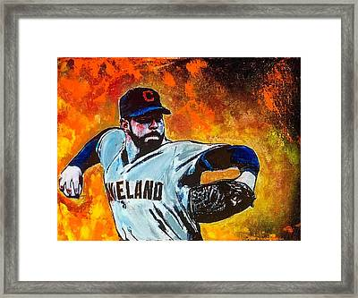 Bringing The Heat Framed Print by Eric Moore