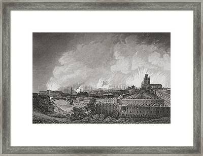 Bristol, England, During The Riots In Framed Print by Vintage Design Pics