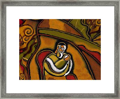 Brit Milah. Baruch Haba. Blessed Be He Who Comes. Sandek On Chair Of Elijah Framed Print by Leon Zernitsky