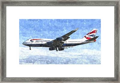 British Airways Boeing 747 Art Framed Print by David Pyatt