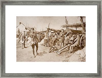British Artillery Units Manning Guns At Framed Print by Vintage Design Pics