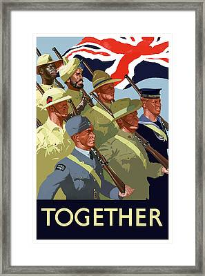 British Empire Soldiers Together Framed Print by War Is Hell Store