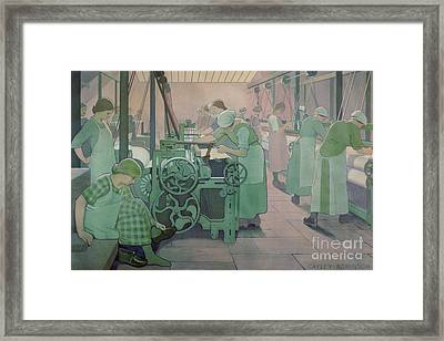 British Industries - Cotton Framed Print by Frederick Cayley Robinson