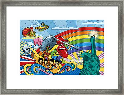 British Invasion Encore Framed Print by Ron Magnes