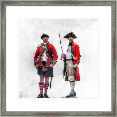 British Officer And Soldier Framed Print by Randy Steele