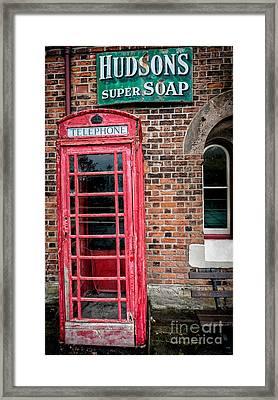 British Phone Box Framed Print by Adrian Evans