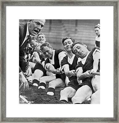 British Tug Of War Team Framed Print by Underwood Archives