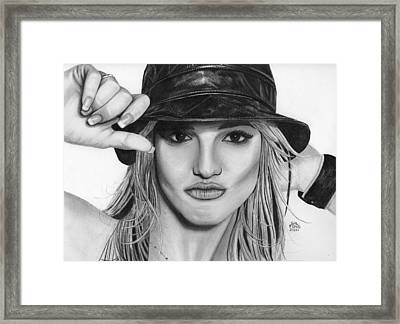 Britney Spears Framed Print by Gil Fong