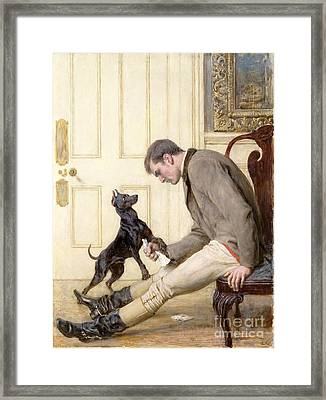 Jilted Framed Print by Briton Riviere
