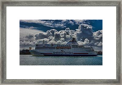 Brittany Ferry Framed Print by Martin Newman