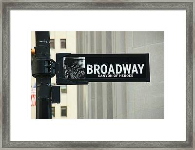 Broadway - Canyon Of Heroes Framed Print by Allen Beatty