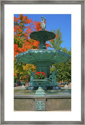 Broadway Fountain II Framed Print by Steven Ainsworth