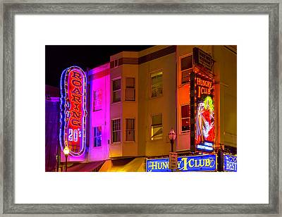 Broadway Neon Framed Print by Garry Gay