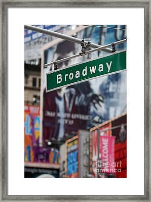 Broadway Times Square New York Framed Print by Amy Cicconi