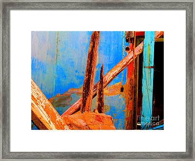 Broken Beams By Michael Fitzpatrick Framed Print by Mexicolors Art Photography