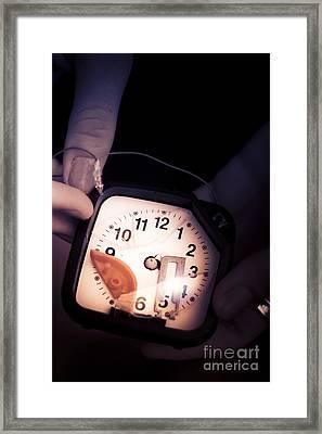 Broken Clock Framed Print by Jorgo Photography - Wall Art Gallery