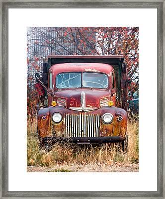 Broken Down Old Abandoned Truck Framed Print by Todd Klassy