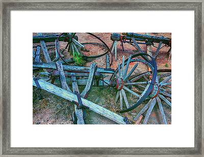 Broken Down Wagon Framed Print by Garry Gay