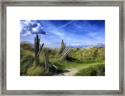 The Broken Fence  Framed Print by Frank Fullard