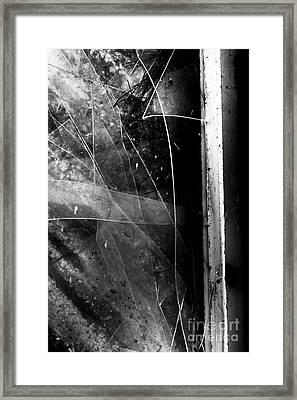 Broken Glass Window Framed Print by Jorgo Photography - Wall Art Gallery