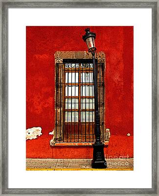 Broken Lamp Post Framed Print by Mexicolors Art Photography