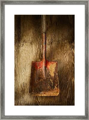 Tools On Wood 2 Framed Print by Yo Pedro
