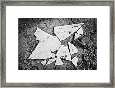Broken Tile Framed Print by Tom Gowanlock